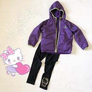 Girls Rugged Bear Fleece Winter Coat Reversible
